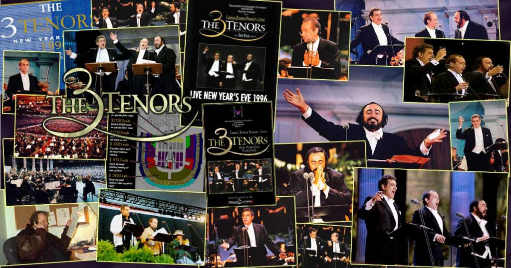 The 3 Tenors concert of the century photo montage