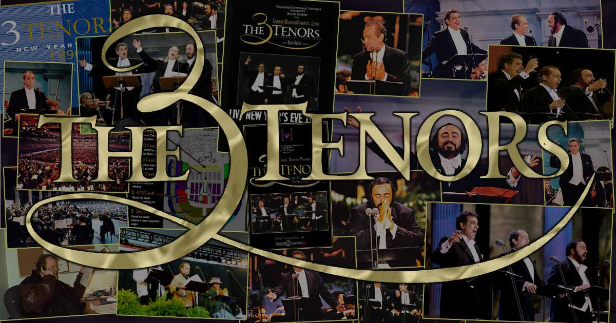 The 3 Tenors concert photo montage