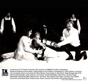 Hamlet (1981 TN Theatre Co Brisbane) [Photo] Geoff and group