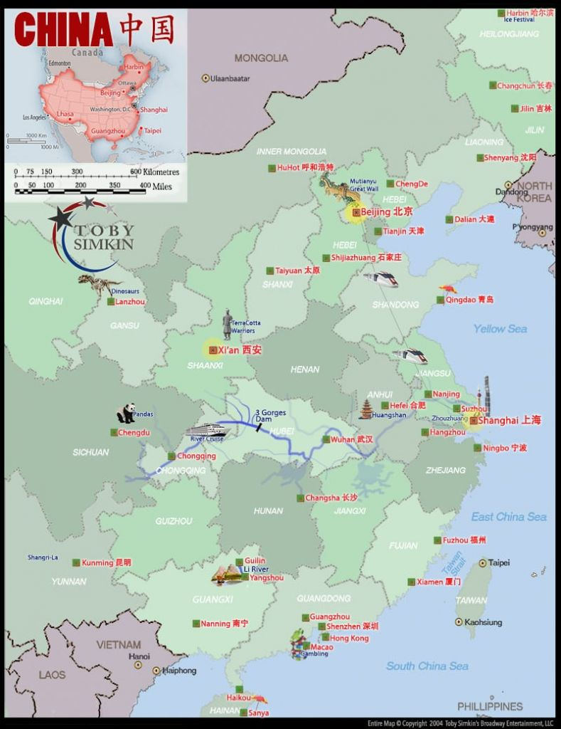 Map of China Overview (courtesy of Toby Simkin)