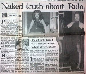 Temptation (1990 Westminster London) [Press] Rulas naked truth. Daily Mail