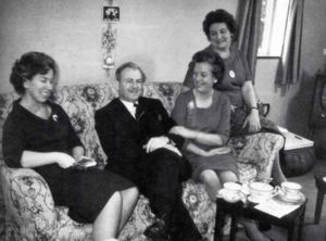 Elaine Ironmonger (left) -- Toby's Godmother, with Toby's father, Max, and mother, Irene (far right)
