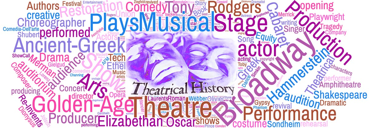 Toby Simkin presents Theatre History Timeline - Theatrical History